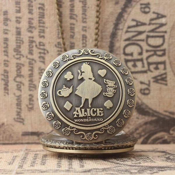 YA-0000637 懐中時計 ラッパうさぎ かわいい ポケットウォッチ アンティーク ネックレス チェーン