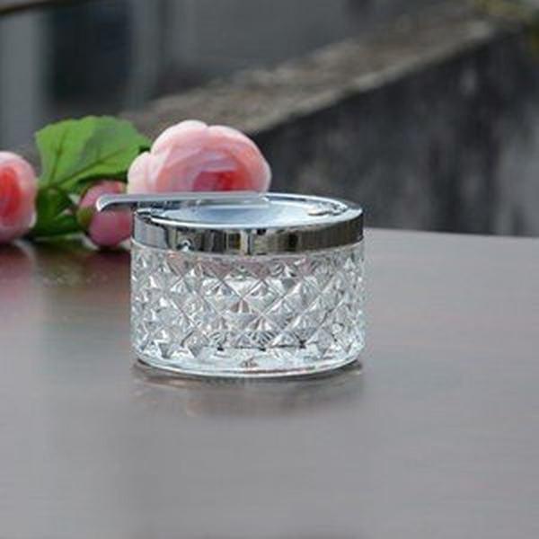 グラス ガラス リリーフ灰皿 蓋付き 灰皿 卓上灰皿 おしゃれ 卓上 インテリア 客室グッズ オフィス 吸煙灰皿 タバコ備品 プレゼント