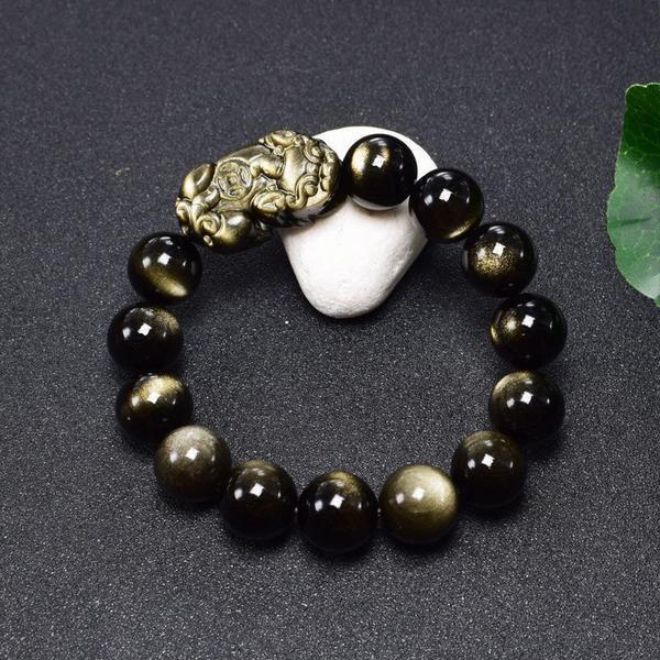 金耀仏珠 天然石ブレスレット メンズ 手作り 誕生日プレゼント 天然石 パワーストーン ブレスレット レディース アクセサリー