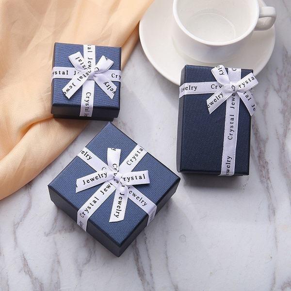 ジュエリーボックス ジュエリーケース ギフトボックス プレゼントボックス アクセサリーケース アクセサリーボックス 箱型 四角形 リボン
