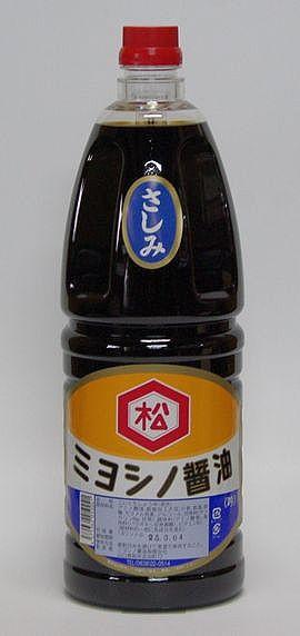 【山口県】【萩市吉田町】【ミヨシノ醤油】さしみ醤油1800ml(10000644)