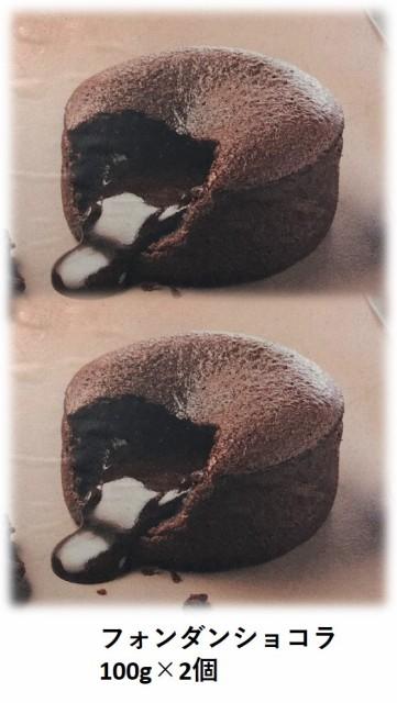 フランス産 トレトールドパリ社 フォンダン ショコラ (100g×2個) チョコ ケーキ バレンタイン バレンタインデー