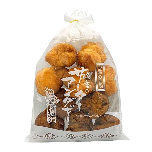 送料無料 サーターアンダギー プレーン 黒糖 10個入り×5袋 大サイズ お試し さーたーあんだぎー 沖縄 特産品