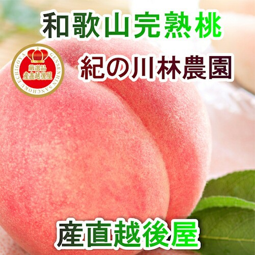 【フルーツ もも 桃 完熟桃 送料無料】 和歌山県 紀の川 林農園 樹上完熟もも 秀品 約2kg(5個〜9個) 採りたてを農園から産地直送