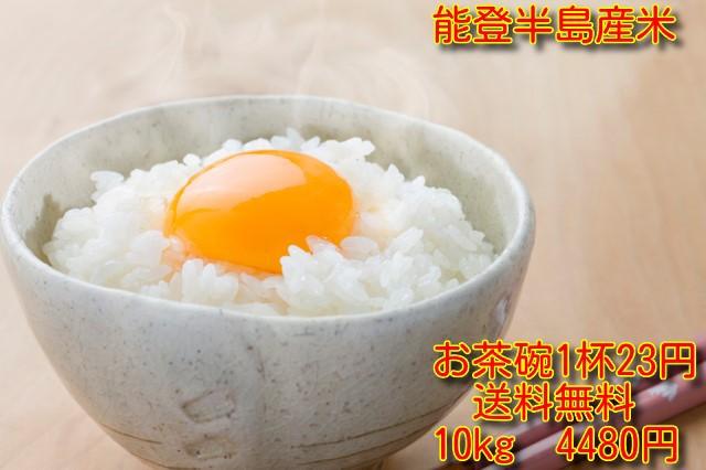 能登半島産米10kg  モニターテストで「いける」と好評 【品質保証】 日本最初の世界農業遺産認定地域限定 精米1週間以内の品