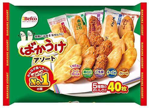 栗山米菓 ばかうけアソート 40枚×10袋
