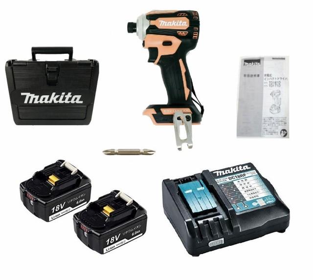 限定色 TD171DGXFC 互換バッテリーセット マキタ インパクトドライバ フレッシュカッパー 18V 6.0Ah 互換バッテリー2個セット makita BL1
