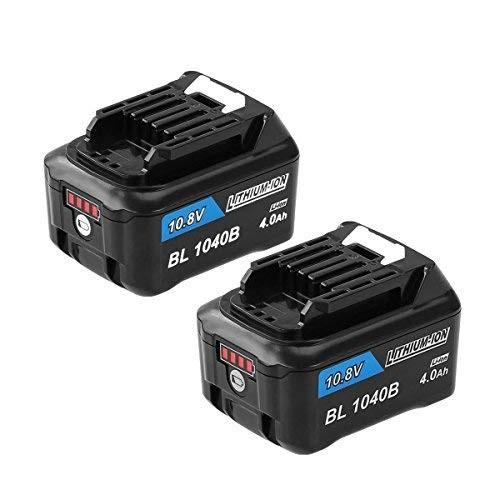 1年保証 マキタ MAKITA BL1040 BL1015 BL1040B 2個セット 互換 バッテリー 10.8V 4.0Ah 残量表示ランプ付