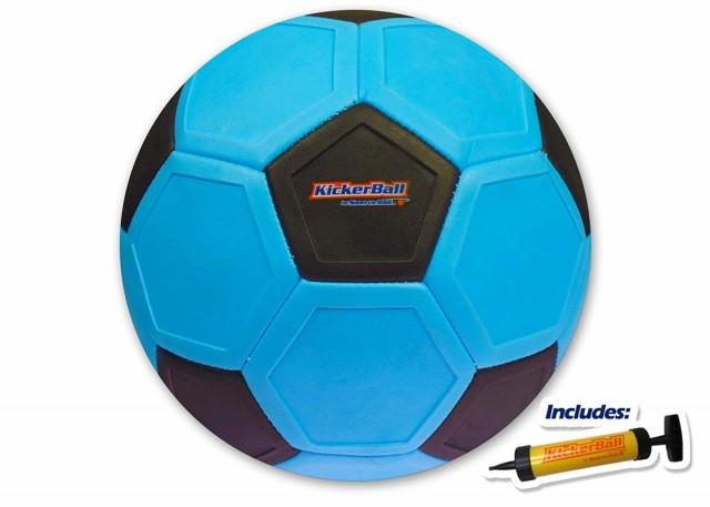 スワーブボール キッカーボール サッカー 曲がる 魔球 カーブ 変化球 Kicker Ball Swerve Ball Electric Blue 青