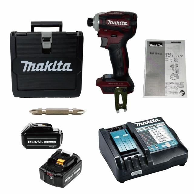 TD172DGXAR 互換バッテリーセット マキタ インパクトドライバ レッド TD171 後継機 18V 6.0Ah 互換バッテリー2個セット makita BL1860B T