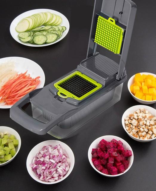 一台8役 野菜スライサー セット 千切り キャベツ にんにく おろし 薄切り 水切り 野菜カッター 調理 サラダ 玉ねぎスライス 千切り