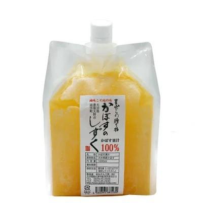 かぼす果汁 かぼすのしずく 1L 大分県産 国産 果汁 カボス 送料無料 冷凍