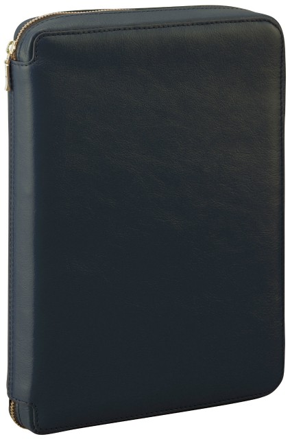 ダ・ヴィンチ A5サイズ システム手帳 ラウンドファスナータイプ リング25mm DSA3001 B [ブラック]