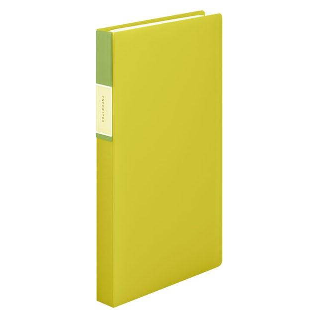 【メール便なら送料240円】キングジム フェイバリッツ 名刺ホルダー(透明) コンパクトタイプ 120ポケット 黄色 FV22T