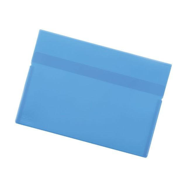 LIHIT LAB.<リヒトラブ> ワンタッチホルダー(名刺ポケット付) 青 F3446-8