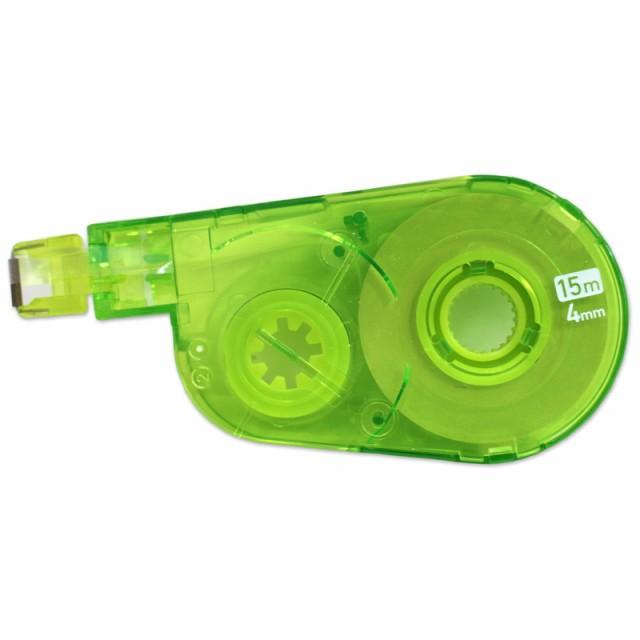 【メール便なら送料240円】プラス(PLUS) 修正テープ ホワイパースイッチ 4mm グリーン 交換テープ WH-1514R 50-137