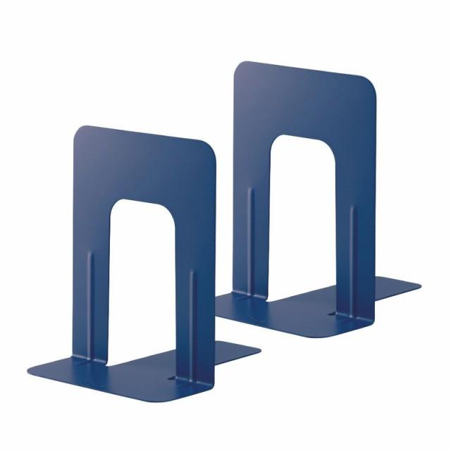 プラス(PLUS)ブックエンド 本立 Mサイズ ブルー BS-202 36-336