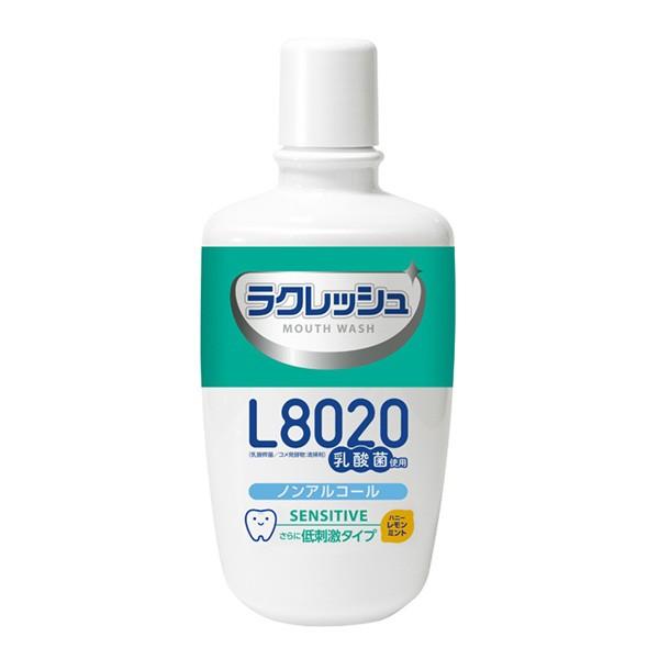 L8020乳酸菌 ラクレッシュ マウスウォッシュ センシティブタイプ(緑)300mL【ハニーレモンミント風味/アルコールフリー/低刺激/殺菌剤不