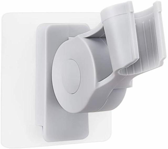 シャワーラック シャワーヘッド掛けスタンド 強力粘着 シャワーホルダー バスルームシャワーフック 7段の角度調節可能 浴室用ラック バス
