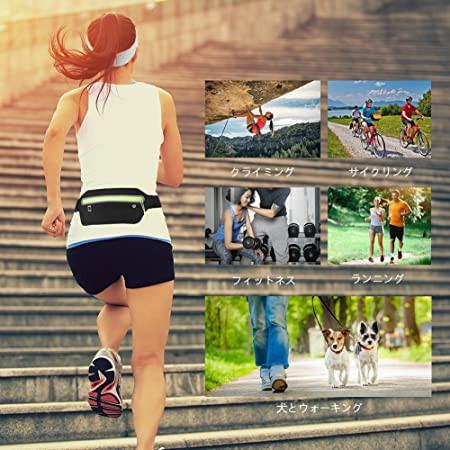 【ランニングポーチ】 Linkax ウォーキングポーチ ジョギング ウェストバッグ 大容量 防水 スポーツ用 レディースメンズ兼用 ブラック