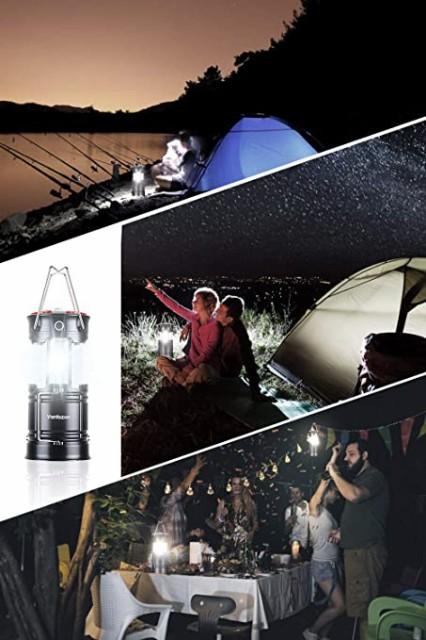 LEDランタン 高輝度 キャンプランタン usb充電式 電池式 2in1給電方法 フラッシュライト 折り畳み式 携帯型 テントライト 懐中電灯 防水