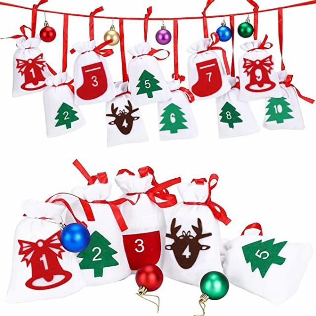 ギフトバッグ ラッピング袋 24枚 和風巾着袋 麻布巾着袋 プレゼント用 小物入れ ポーチ 手作り 素材 無地 ミニポーチ クリスマス装飾用