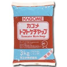 【送料無料】カゴメ トマトケチャップ標準3kgフィルムパック×1ケース(全4本)