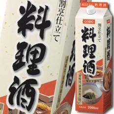 【送料無料】合同 割烹仕立て料理酒 2Lパック×2ケース(全12本)