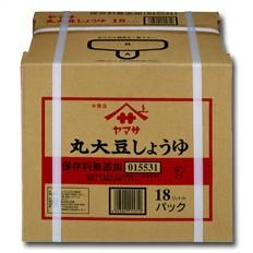 【送料無料】ヤマサ醤油 ヤマサ丸大豆しょうゆ(保存料無添加)18Lバックインボックス×1本