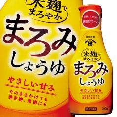 【送料無料】ヒゲタしょうゆ 米麹でまろやかまろみしょうゆ200ml硬質ボトル×1ケース(全12本)