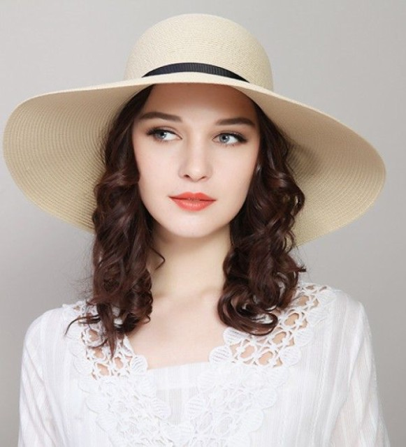 d9ebffb81aca 送料無料 つば広ハット 夏にアウトドア日焼け止めエレガント麦わらハット 帽子 レディース 折りたためる 帽子 ソフトハット