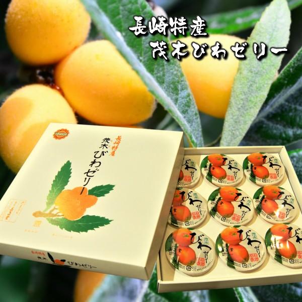 茂木びわゼリー9個入 長崎特産 全国菓子大博覧会 名誉総裁賞受賞