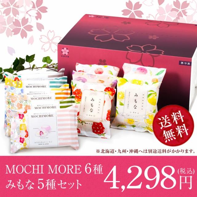 桜庵限定!みもな&MOCHIMOREギフトセット(11種・11個入り)(化粧箱)(送料込) 和と洋の素材をミックスした創作もちアイス 日本の四