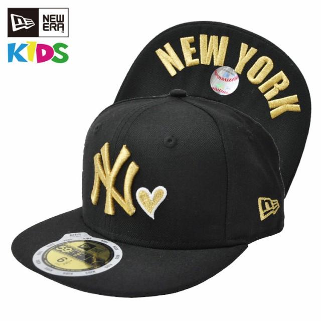019bf91ddbbd7 ニューエラ キッズ キャップ NEW ERA Kids 59FIFTY アンダーバイザー ハート ニューヨーク・ヤンキース  STYLISE
