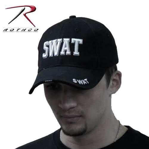 SWAT キャップ 特殊警察 ロスコ Rothco ブラック刺繍 ベースボール ミリタリーキャップ