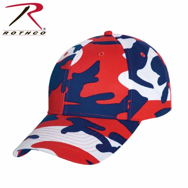 レッド・ホワイト・ブルー迷彩 ミリタリー シュプリーム キャップ ロスコRothco Color Camo Supreme Low Profile Cap