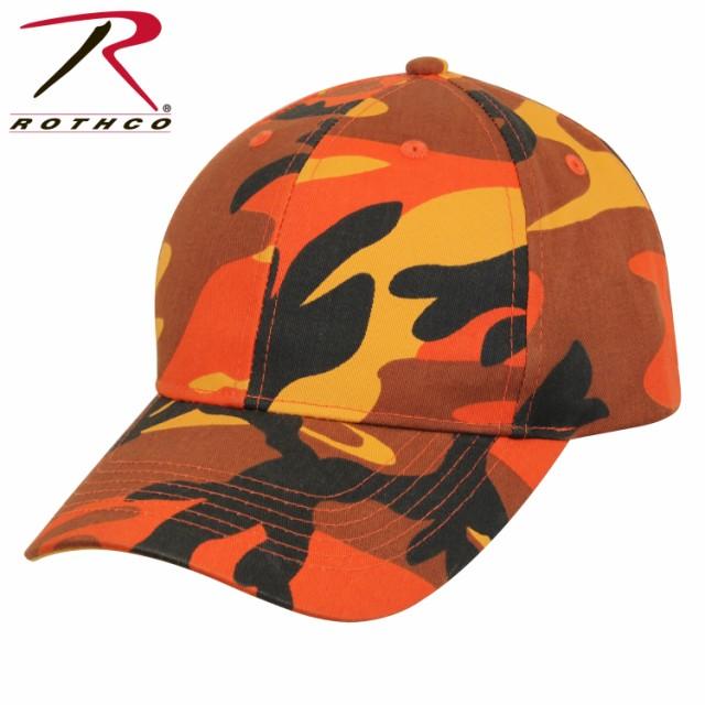 オレンジ迷彩 ミリタリー シュプリーム キャップ ロスコRothco Color Camo Supreme Low Profile Cap