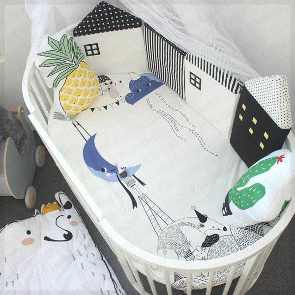ベビー用品 便利 ベビーベッドガード ハウス型 赤ちゃん サイド 転落防止 バンパー フェンス クッション ご出産 記念日 プレゼント