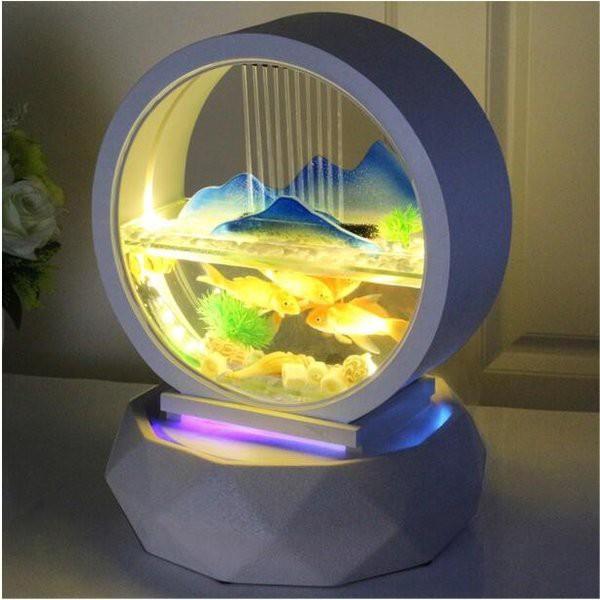 水槽 おしゃれ インテリア 熱帯魚 金魚 ホワイトガラス 屋内装飾 滝キット Mountain View