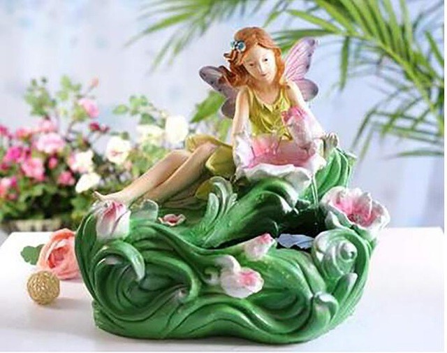 水槽 熱帯魚 金魚 水装飾品 加湿 デスクトップ 結婚式 fairylady 花 クリスマス Flower Angel without atomizer