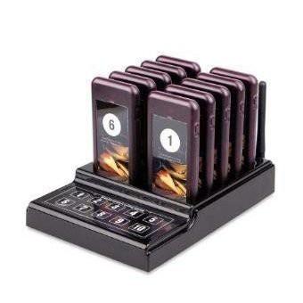 呼び出しベル ワイヤレス 飲食店 無線呼び出しシステム ポケベル10個セット ケータリング機器 キーパッドトランスミッター
