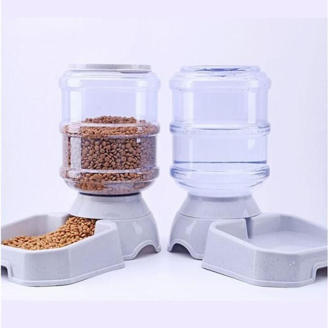 ペット給餌器 ペットフィーダー 犬 猫 3.8L 自動給餌器 給水器 給水タンク ペット用品 留守 外出 旅行
