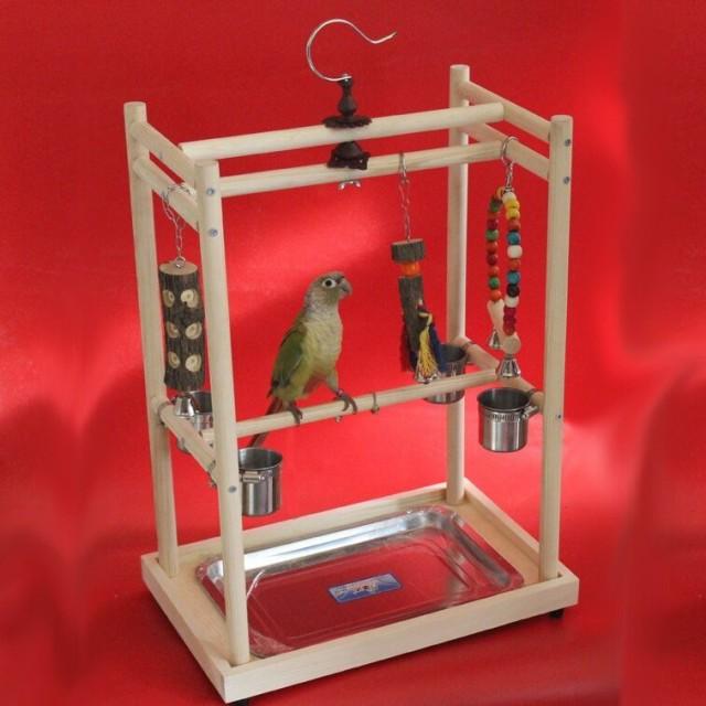 止まり木 鳥 とまり木 ジム プレイスタンド トレーニングスタンド 40X26X50cm