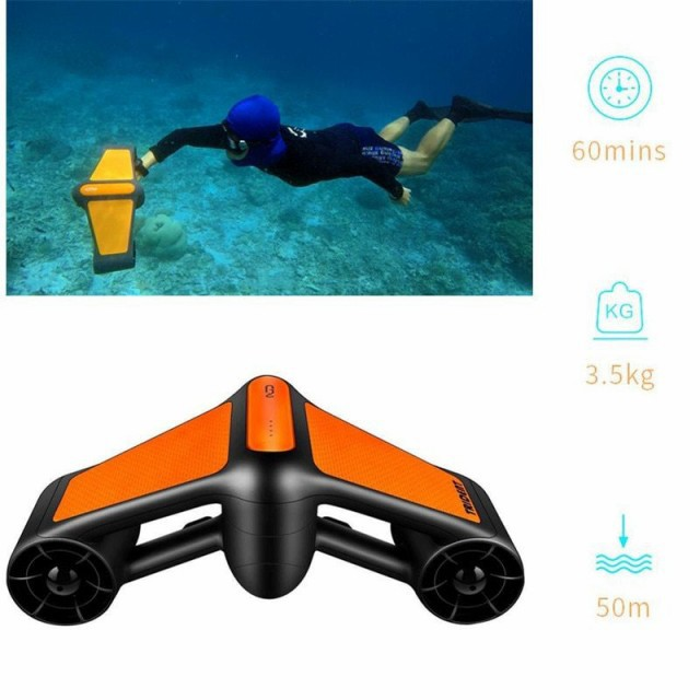 水中スクーター 電動 防水 2 速 プロペラダイビング プールスクーター チャイルドロック付
