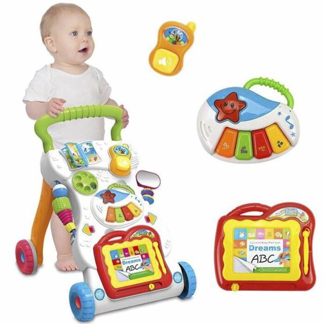 ベビーウォーカー スタンドウォーカー ベビー幼児 トロリーシットボード ウォーキングアシスタント 幼児 安全 車