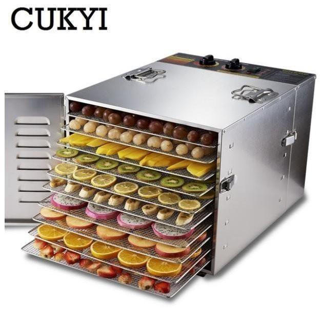食品乾燥機 業務用 ドライフルーツ 野菜・ハーブ・スナック・肉干し10 層 ステンレス鋼 110V 220V