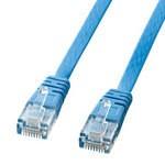 サンワサプライ カテゴリ6フラットケーブル(2m・ライトブルー) KB-FL6-02LBN KB-FL6-02LBN