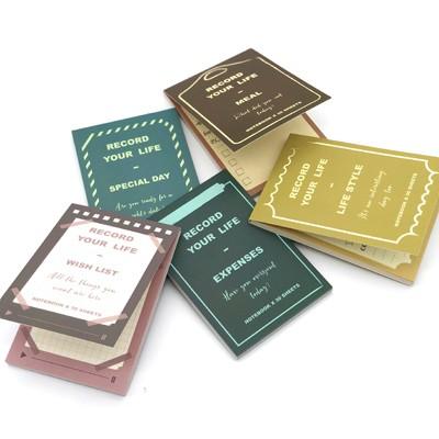 ロジック メモ帳 ライフスタイル 5種類セット [LG-MEMO-5SET] 文房具 メモ 簡単 管理 便利 小さめ ユニーク おしゃれ かわいい デザイン