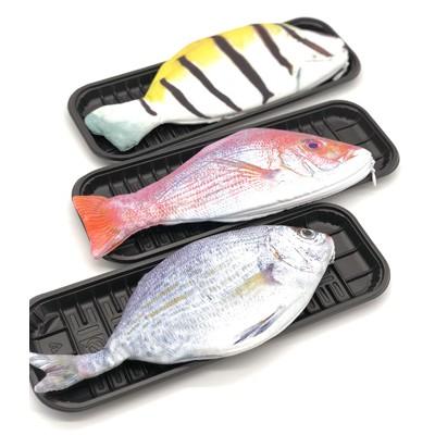 ロジック ペンケース 魚 [LG-PENCASE-FISH] 文房具 筆箱 ポーチ さかな リアル ユニーク おもしろ おしゃれ かわいい デザイン 大きめ ピ