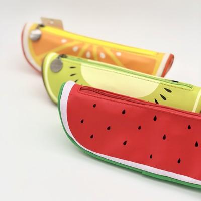 ロジック ペンケース フルーツ [LG-PENCASE-FRUITS] 文房具 筆箱 果物 スイカ オレンジ キウイ おしゃれ かわいい カラフル 女の子 赤 緑